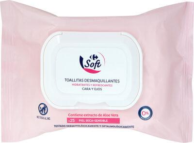 Toallitas desmaquillantes cara y ojos piel seca-sensible - Product - es