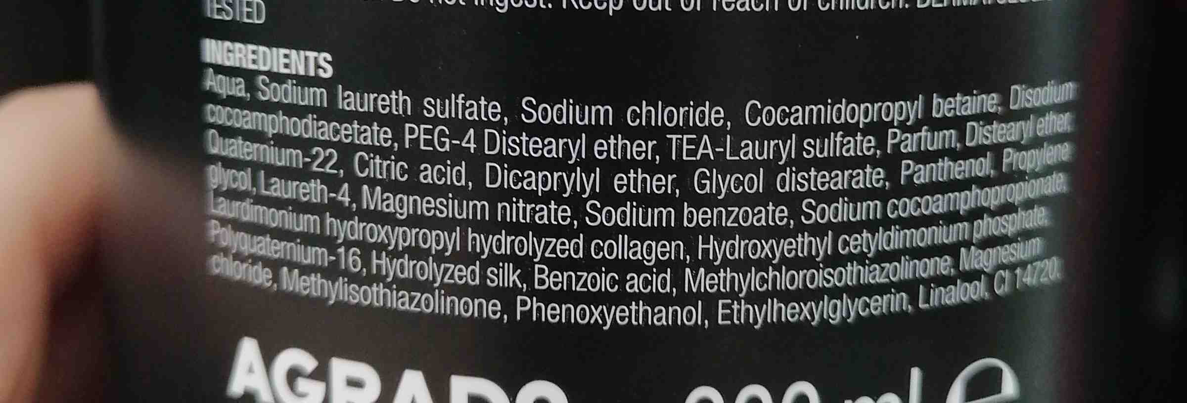 Agrado champu profesional - Ingredients - en