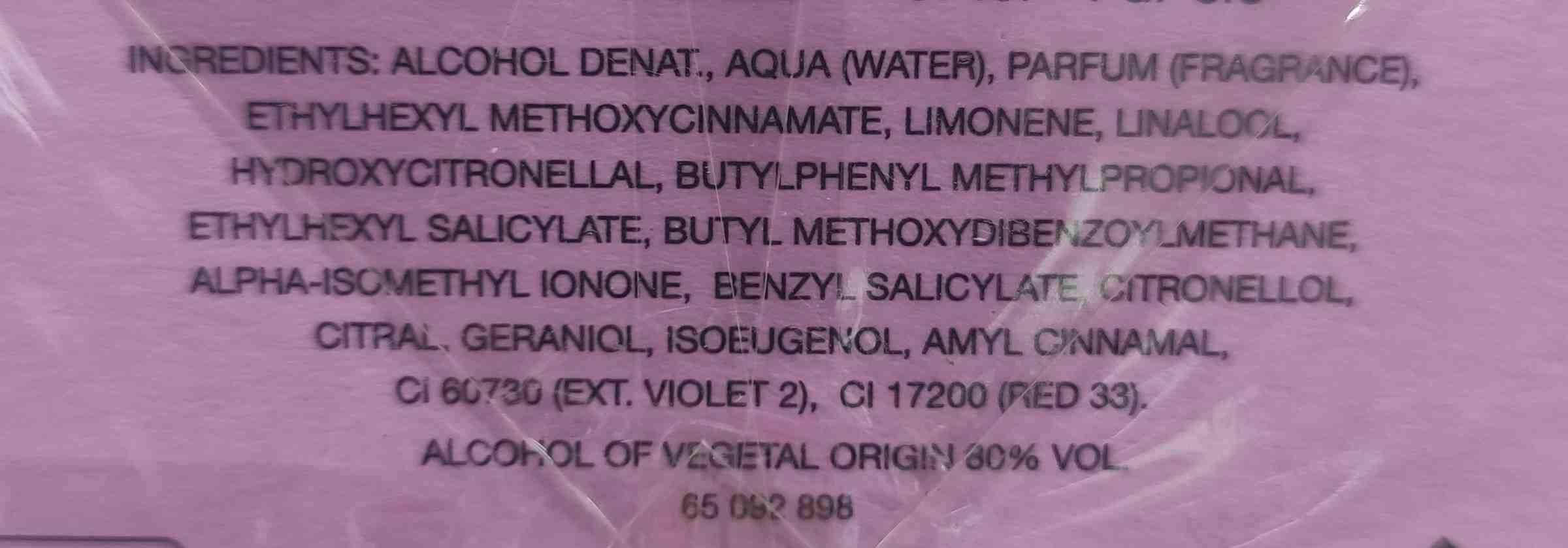 perfume Benetton - Ingredients - en