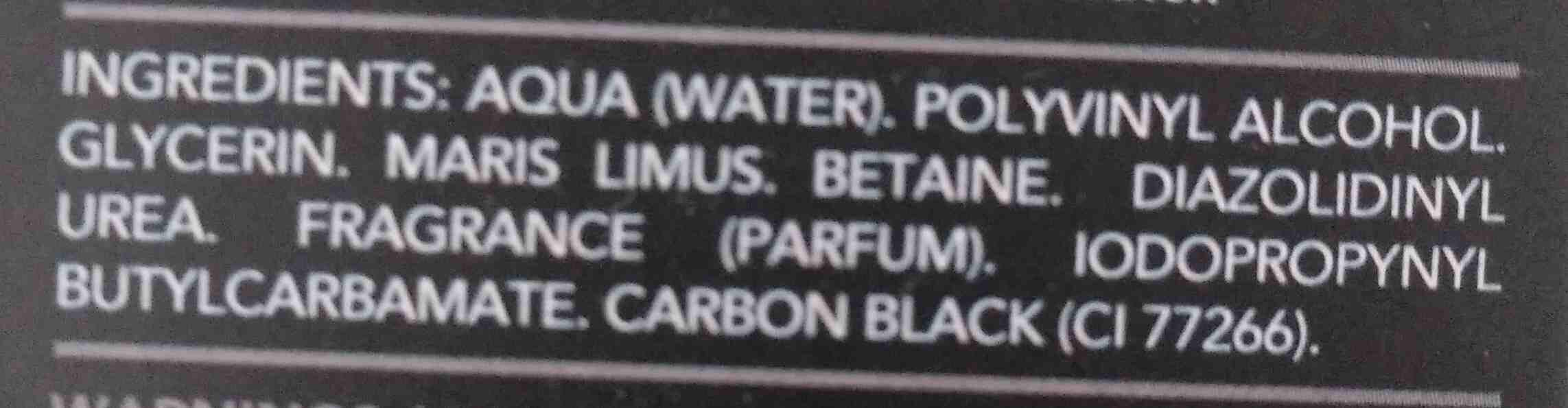 Mascarilla Negra Carbon - Ingredients - en