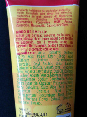 Oseogen unguento balsamico - Ingredients - en