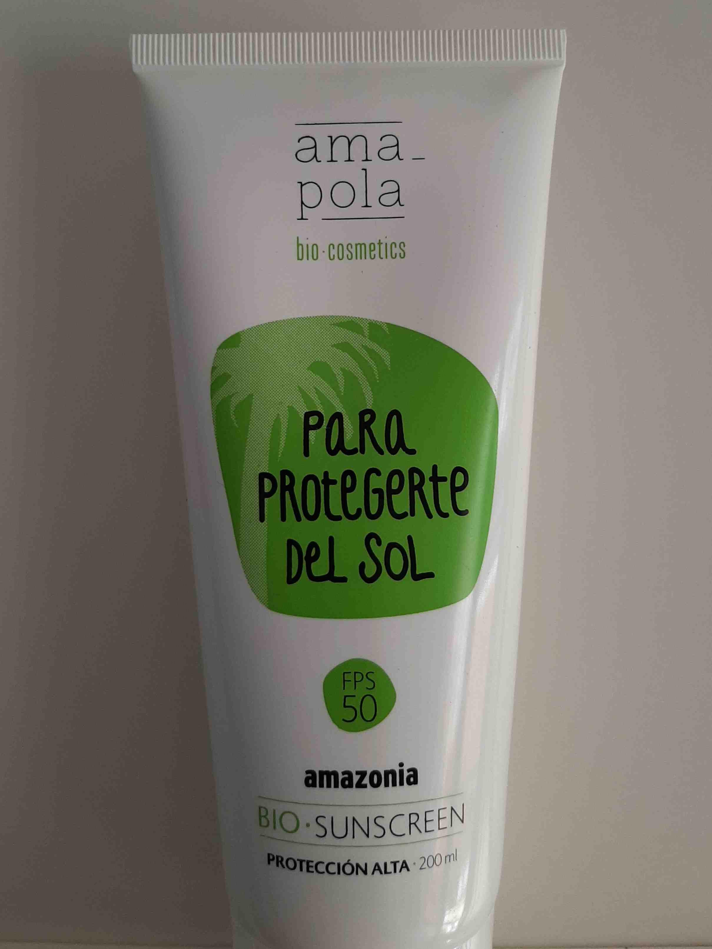 Protector solar. FPS 50, amapola bio cosmetics - Product - en