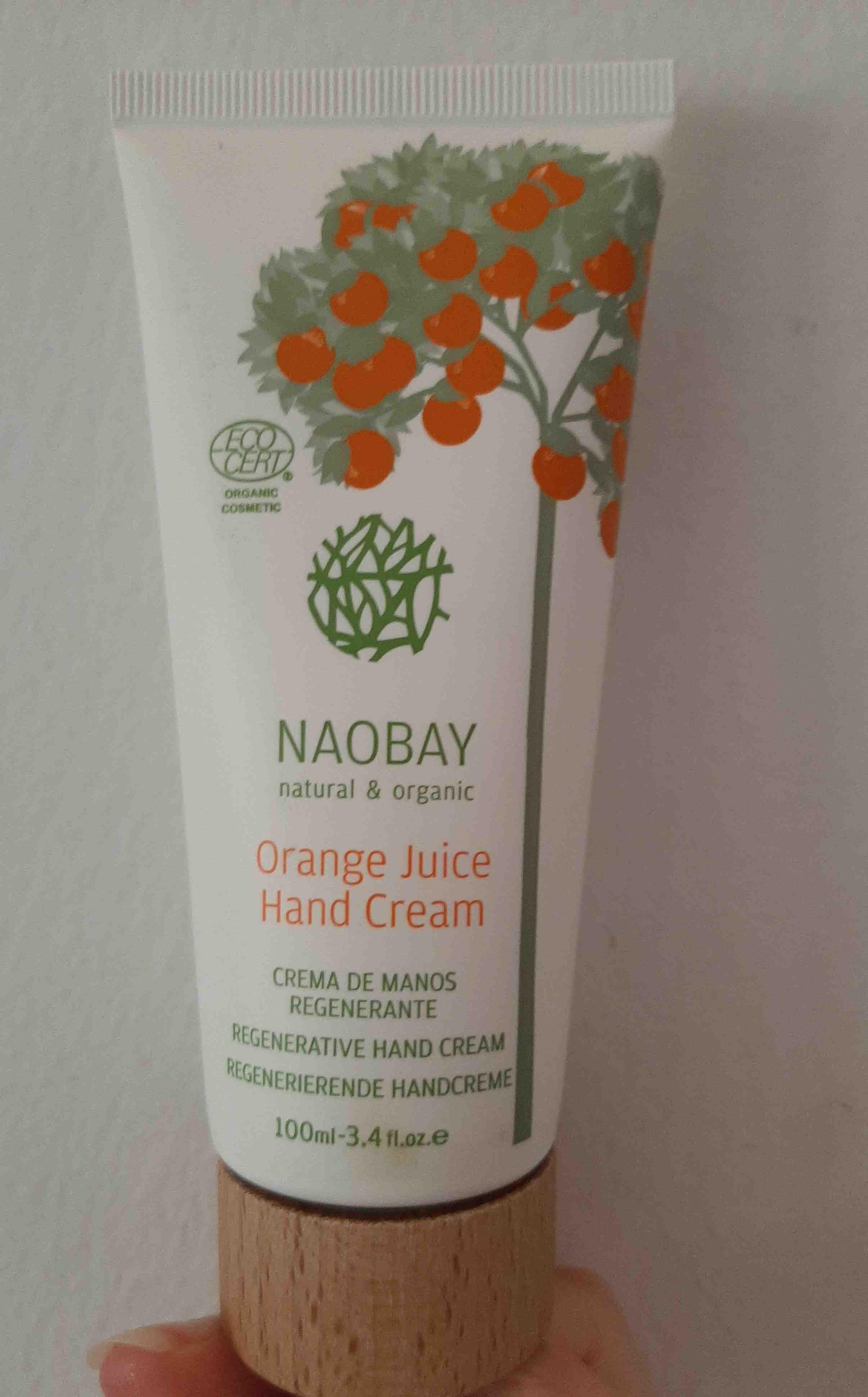 Crema de manos regenerante orange juice. Naobay - Product - en