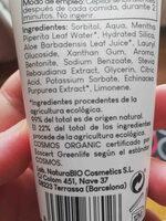 dentifrico bio natura - Ingredients - en