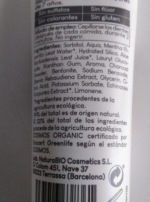 Natura bio cosmetics dentífrico blanqueador - Ingredients