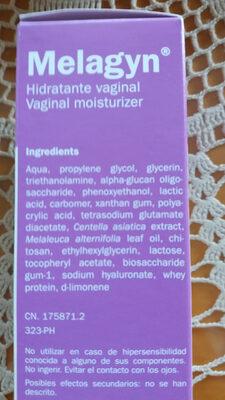 Melagyn hidratante vaginal - Product - es