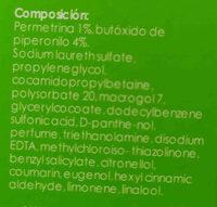 antipiojos - Ingredients - en
