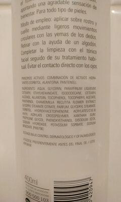 LECHE LIMPIADORA HIDRATANTE - Ingredients - es