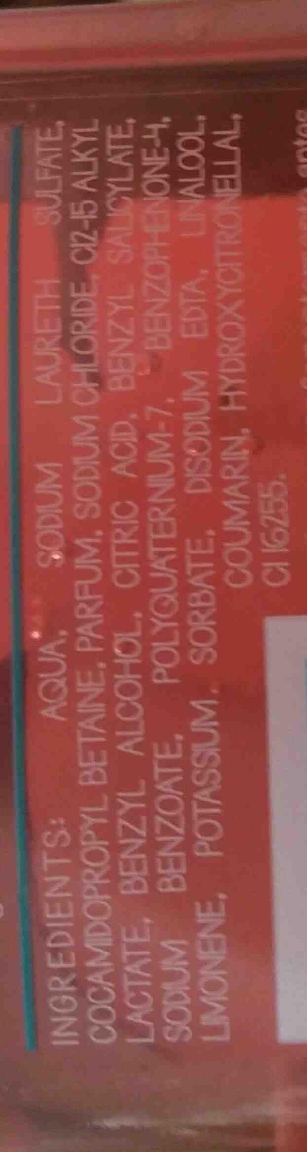 Champú exotic - Ingredients - en