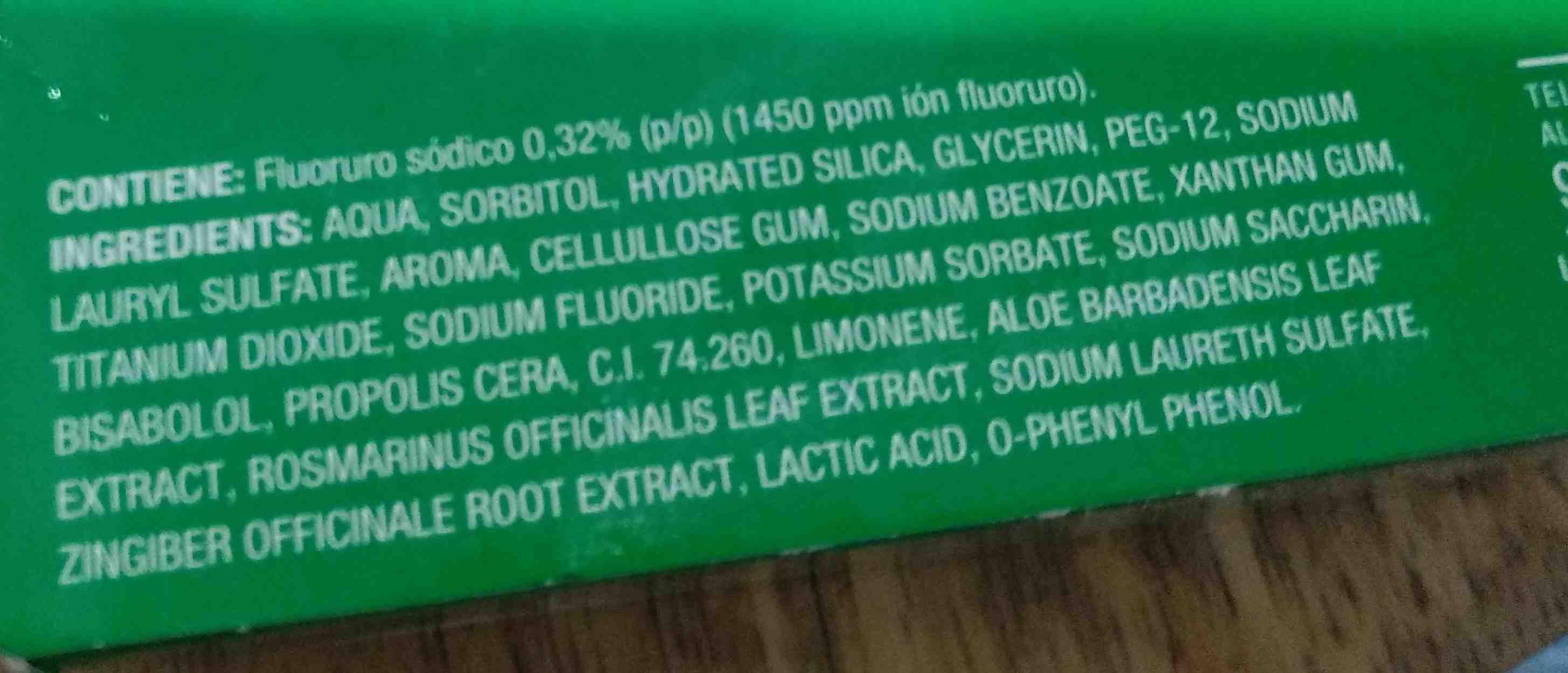 crema dental herbal aloe vera - Ingredients - en