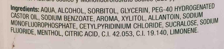 enjuague bucal deliplus - Ingredients - en