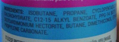 Desodorante afrutado en spray - Ingredients - en