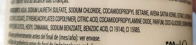 Hidratante con avena - Ingredients - es