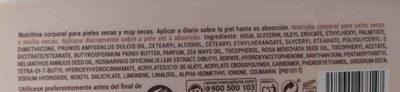 Locion de almendras - Ingredients - en