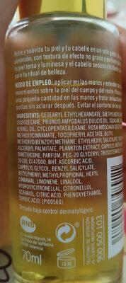 24K HOLD PROGRESS ACEITE SECO - Ingredients