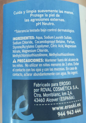 Basic Dermo Jabón liquido - Ingredients - es