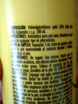 Povidona iodada 10% unnia - Ingredients - en