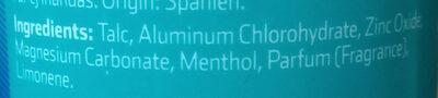 polvo desodorante para pies - Ingredients - es