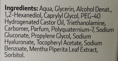 Fluido hidratante - Ingredients - es