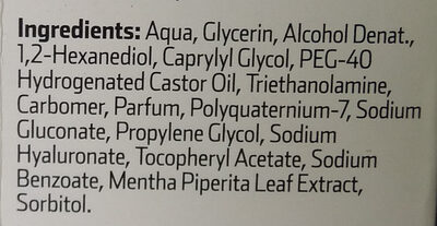 Fluido hidratante - Ingredients