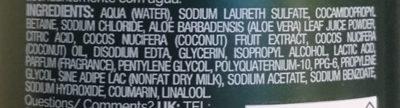 Botanique Nourish & Replenish - Ingredients - sv