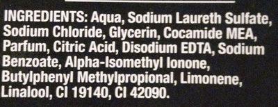 Black Fresh Charge - Ingredients