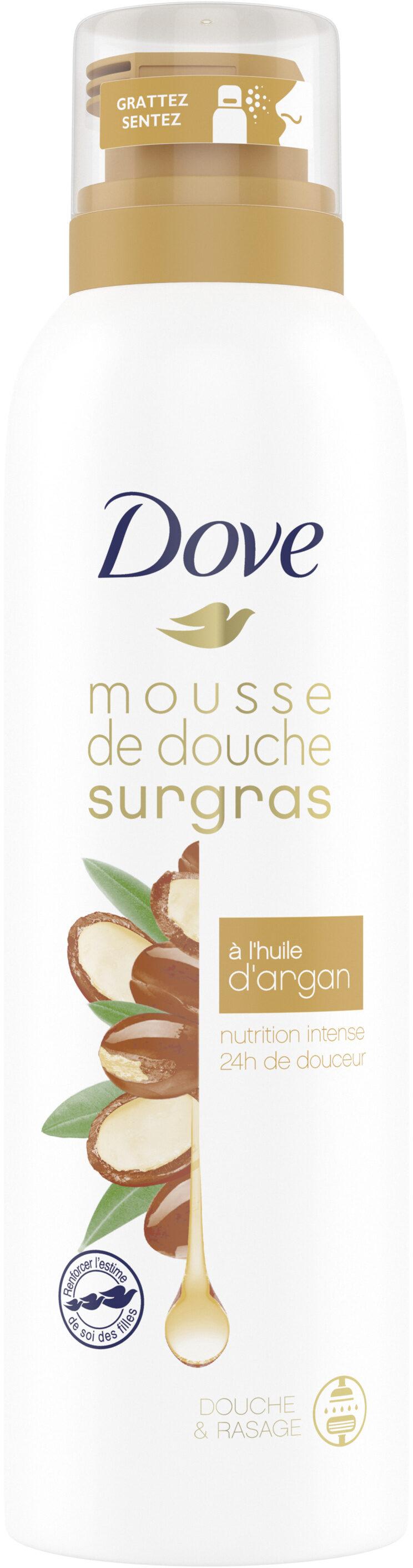 Dove Surgras Gel Douche Mousse Infusée à l'Huile d'Argan 24H de Douceur - Produit - fr