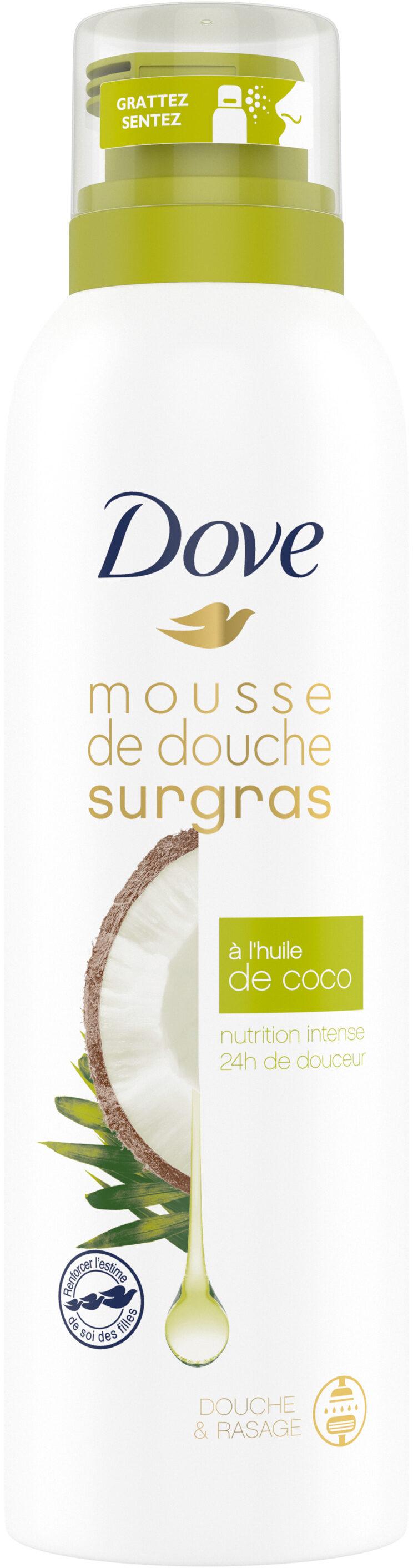 Dove Surgras Gel Douche Mousse Nourissante Infusée Huile de Coco - Product - fr