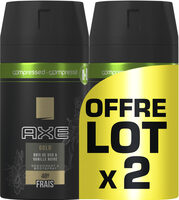 AXE Gold Compressé Déodorant Homme Spray Bois de Oud et Vanille Noir Frais 48H Lot - Product - fr