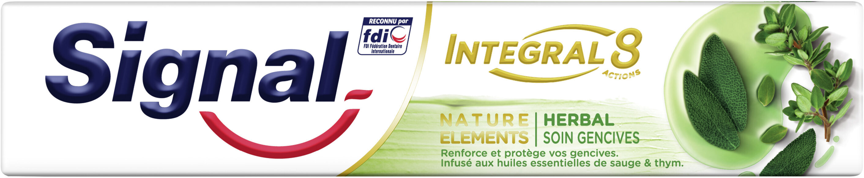 Signal Integral 8 Dentifrice Nature Elements Soin Gencives - Product - fr