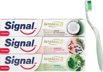 Signal Dentifrice Antibactérien Integral 8 Nature Elements Coco Blancheur - Produit - fr
