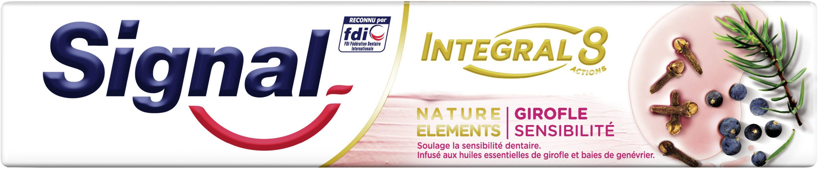 Signal Integral 8 Dentifrice Nature Elements Girofle Sensibilité - Produit - fr