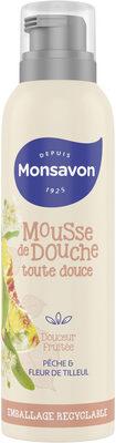 Monsavon Gel Douche Mousse Douceur Fruitée Pêche & Tilleul - Product