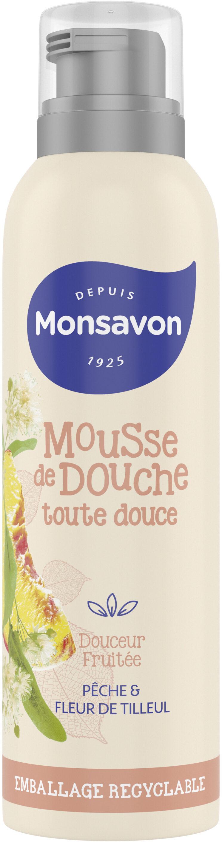 Monsavon Gel Douche Mousse Douceur Fruitée Pêche & Tilleul - Product - fr