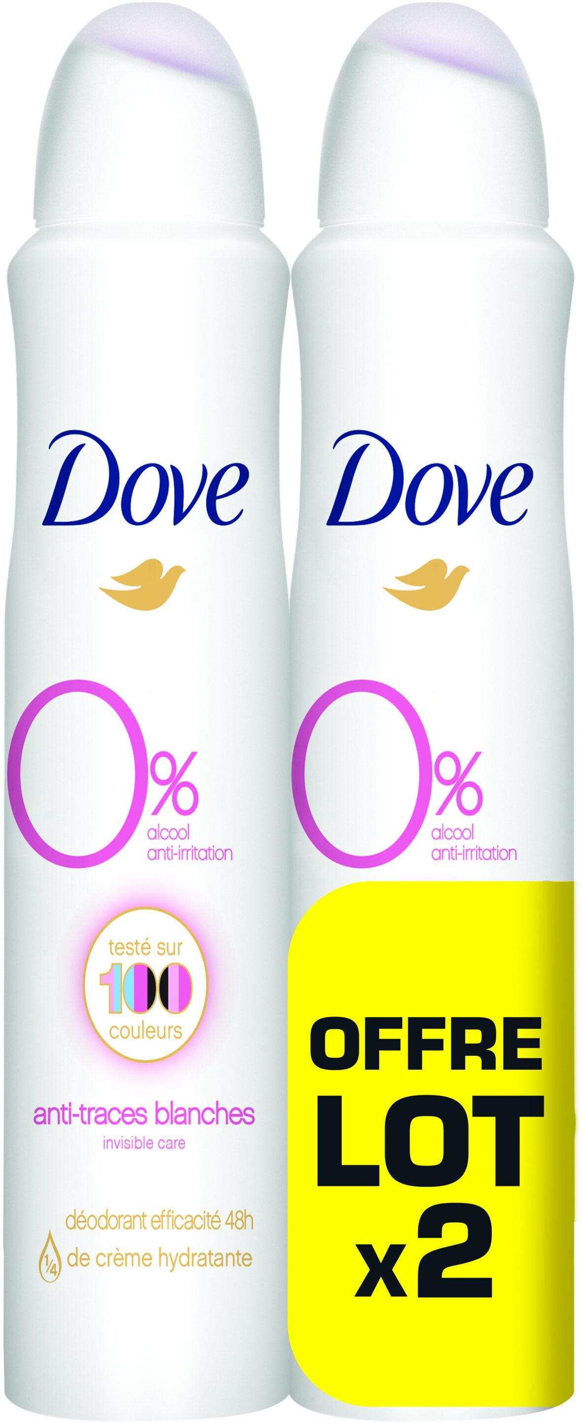 Dove Déodorant Femme Spray Invisible Care 200ml Lot de 2 - Product - fr