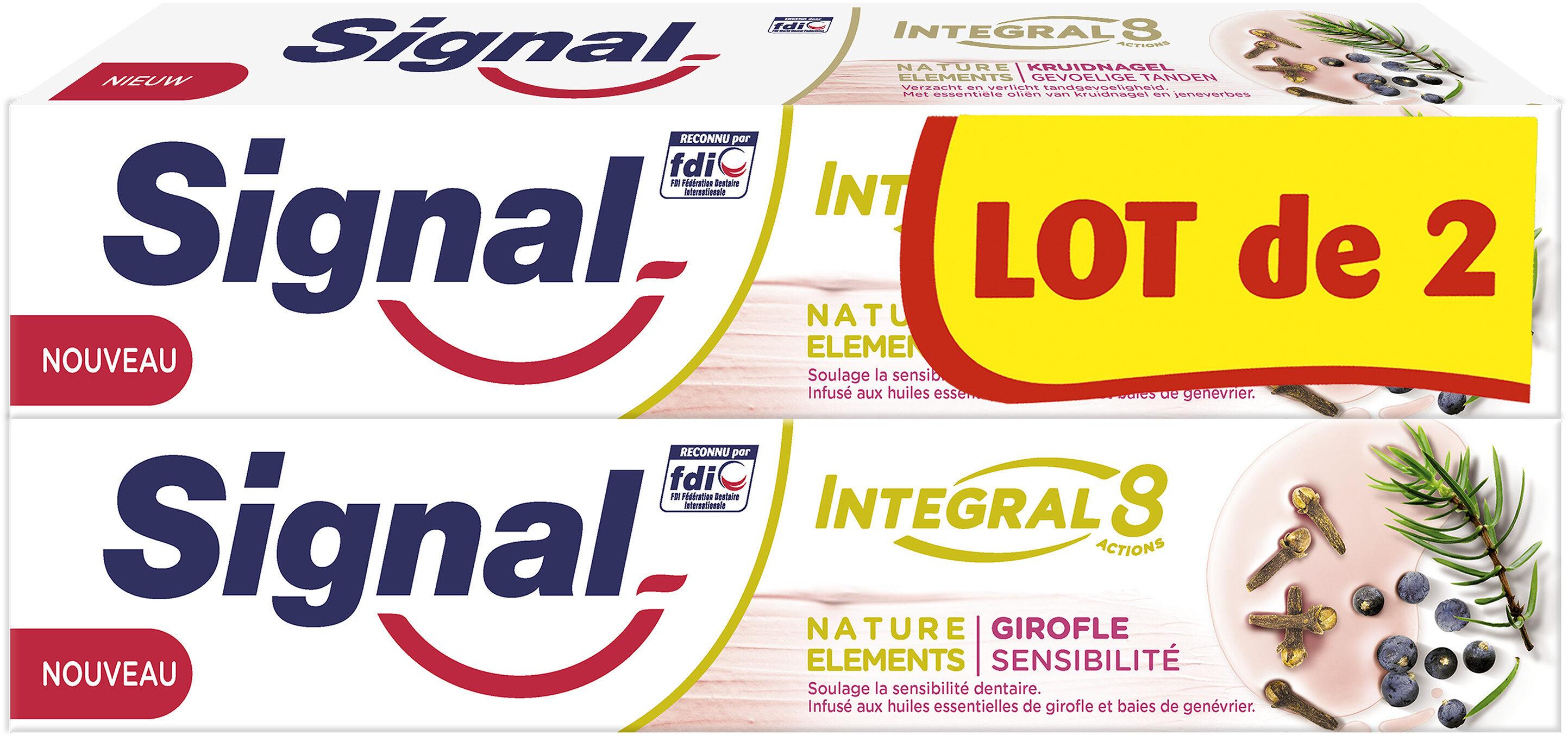 Signal Integral 8 Dentifrice Nature Elements Girofle Sensibilité 2x75ml - Produit - fr