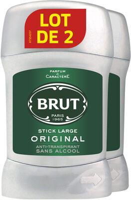 Brut Original Déodorant Homme Stick Sans Alcool Lot de 2 X50ml - Product - fr
