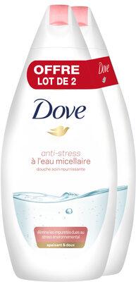 Dove Gel Douche Eau Micellaire Anti-Stress 400ml Lot de 2 - Product - fr