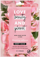 Love Beauty And Planet Masque tissu Eclat Radieux au Beurre de Muru Muru & Rose x1 - Product - fr