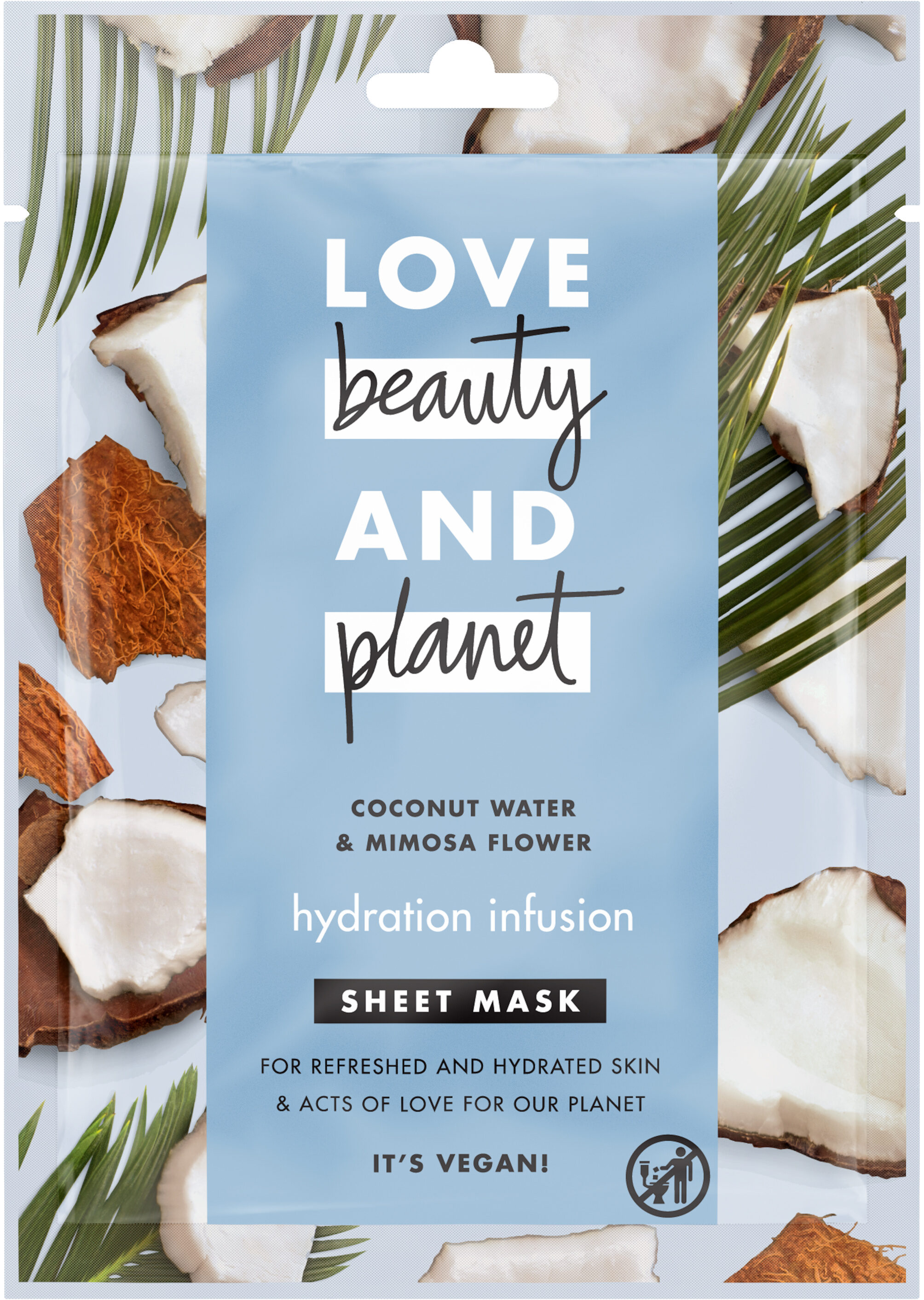 Love Beauty And Planet Masque tissu Infusion Hydratante x1 - Product - fr