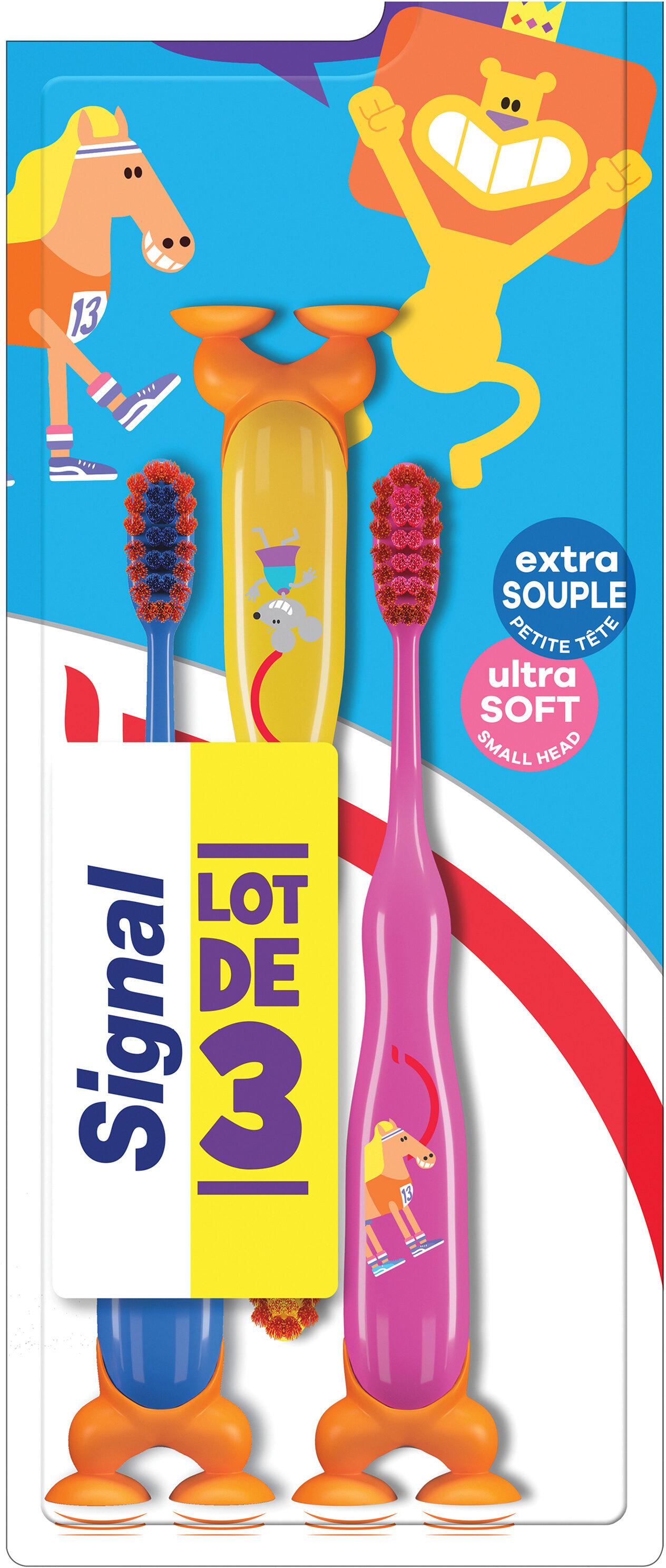 Signal Brosse à Dents Enfants 2-6ans Extra Souple x3 - Product - fr