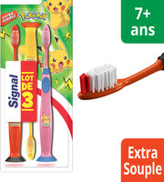 Signal Brosse à Dents Enfants 7 + Ans Pokémon Extra Souple x3 - Product - fr