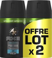 AXE Déodorant Collision Cuir Cookies Spray Compressé Lot 2x100ml - Product - fr
