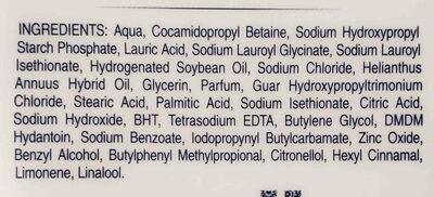 Dove gel de ducha - Ingredients - en