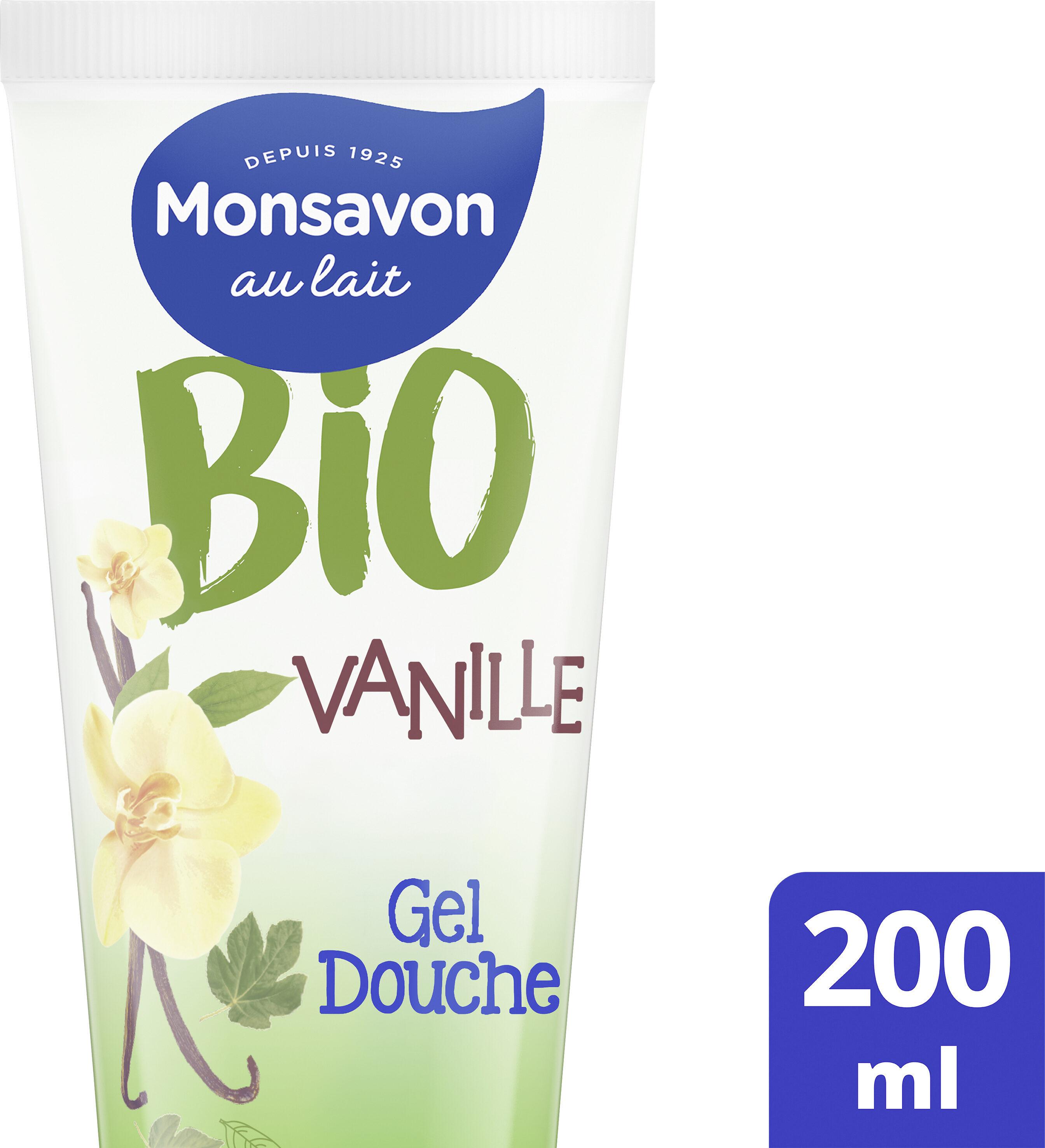 Monsavon Gel Douche Hydratant Certifié Bio Vanille Fleur de Figuier - Produit - fr