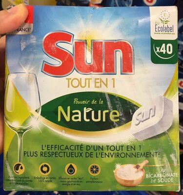 Sun Tablettes Lave-Vaisselle Pouvoir de la Nature Eco-Label 40 Lavages - Produit