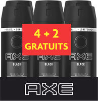 AXE Déodorant Homme Spray Anti Transpirant Black 150ml Lot de 6 - Product - fr