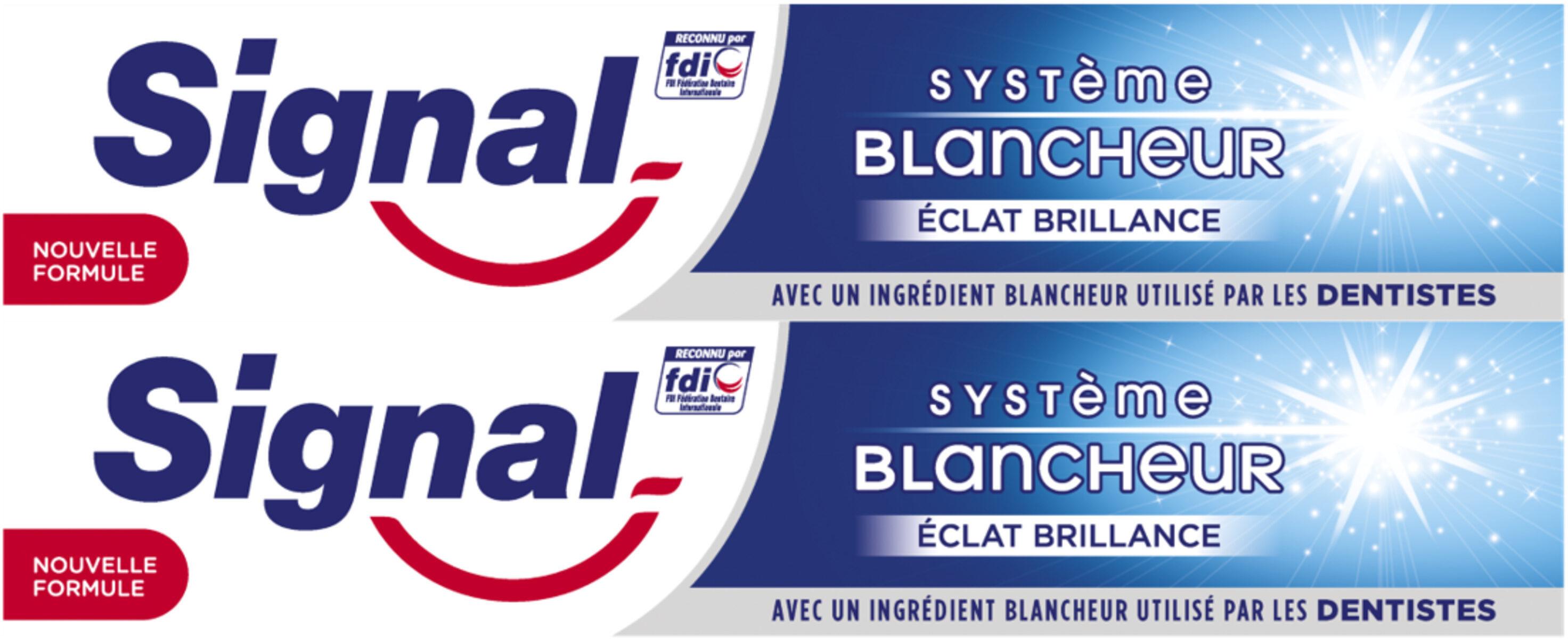 Signal Dentifrice Système Blancheur Éclat Brillance 2x75ml - Produto - fr