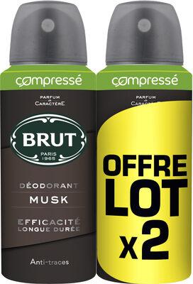 Brut Déodorant Homme Spray Musk Lot 2x100ml - Product - fr