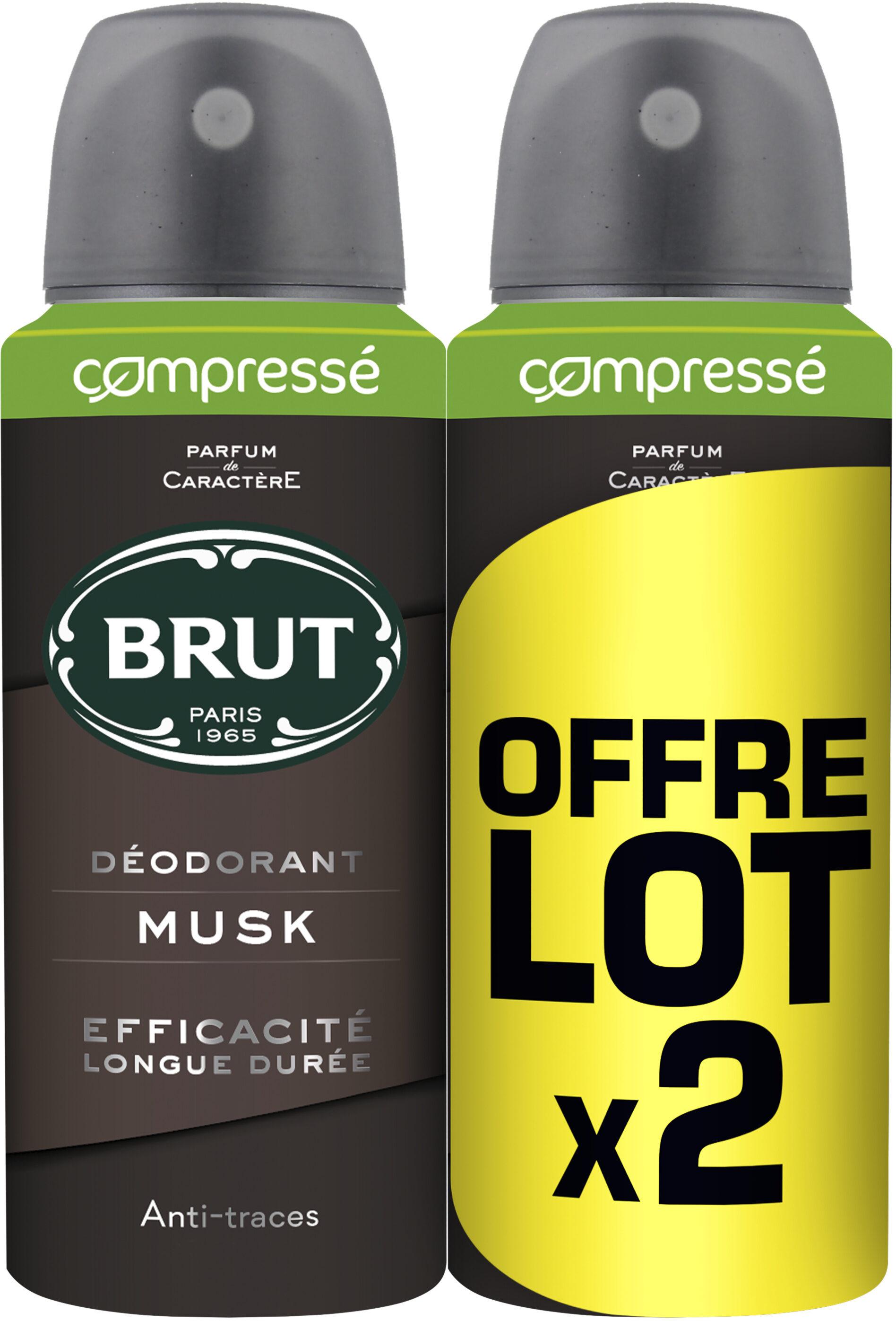 Brut Déodorant Homme Spray Musk Lot 2x100ml - Produit - fr